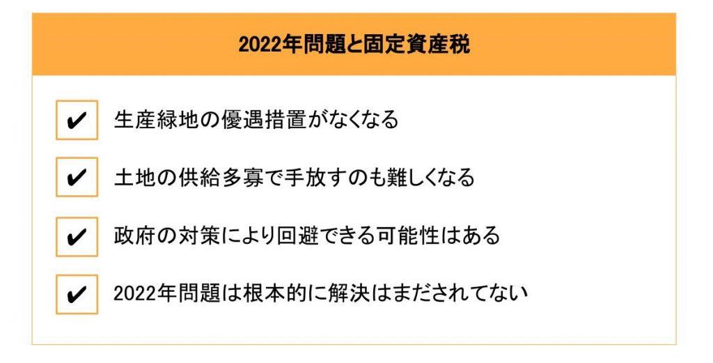 農地が抱える2022年問題と固定資産税