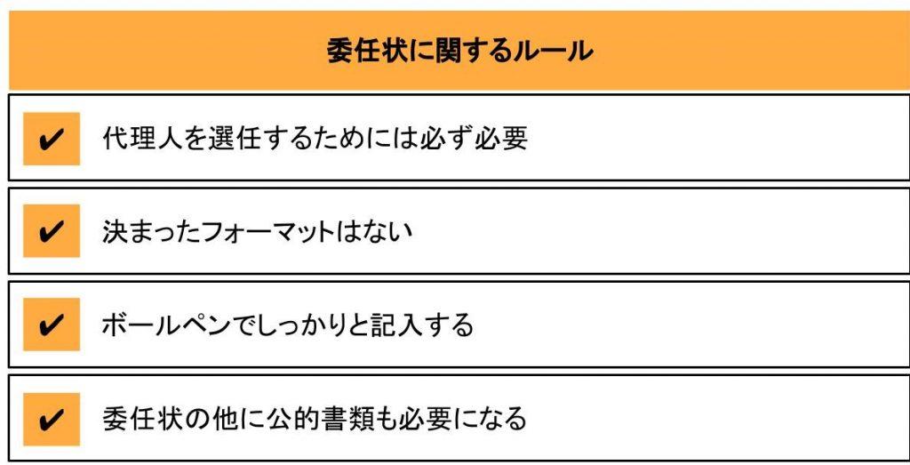 委任状に関する4つのルール
