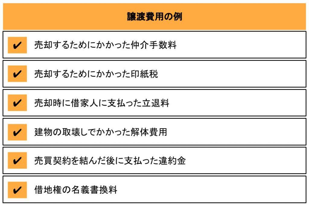 譲渡費用の例6つ