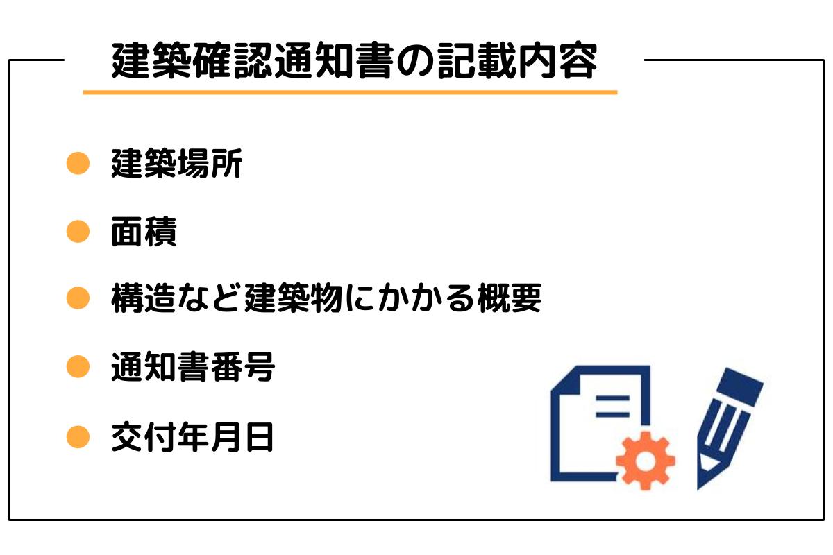 建築確認通知書の記載内容